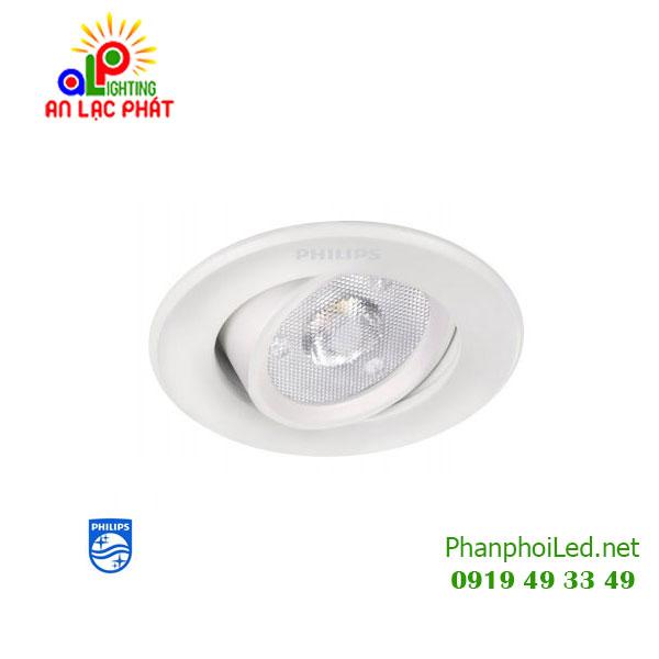 Đèn chiếu điểm Spot recessed LED 1x3W Philips