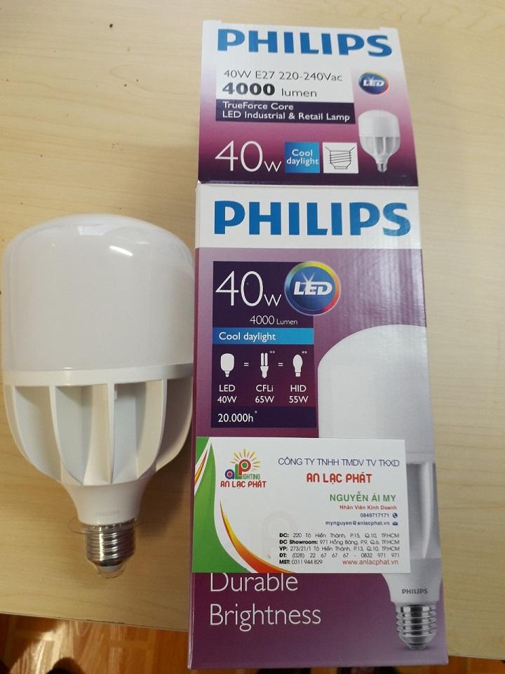 Bóng đèn led trụ Philips tuổi thọ cao và tiết kiệm điện
