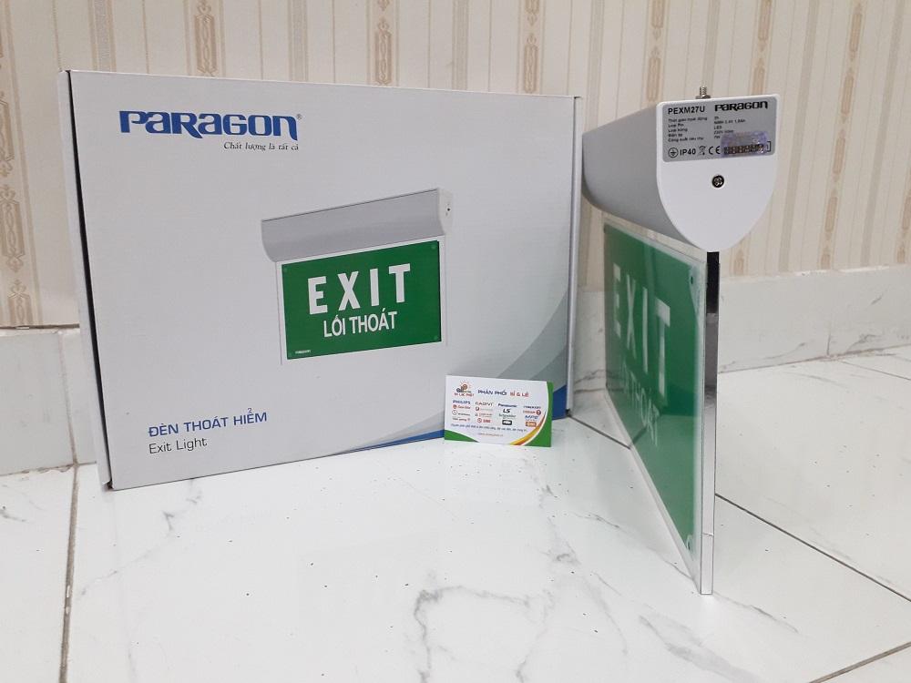 Hình ảnh đèn Exit Paragon được chụp tại kho An Lạc Phát - Đại lý đèn Paragon
