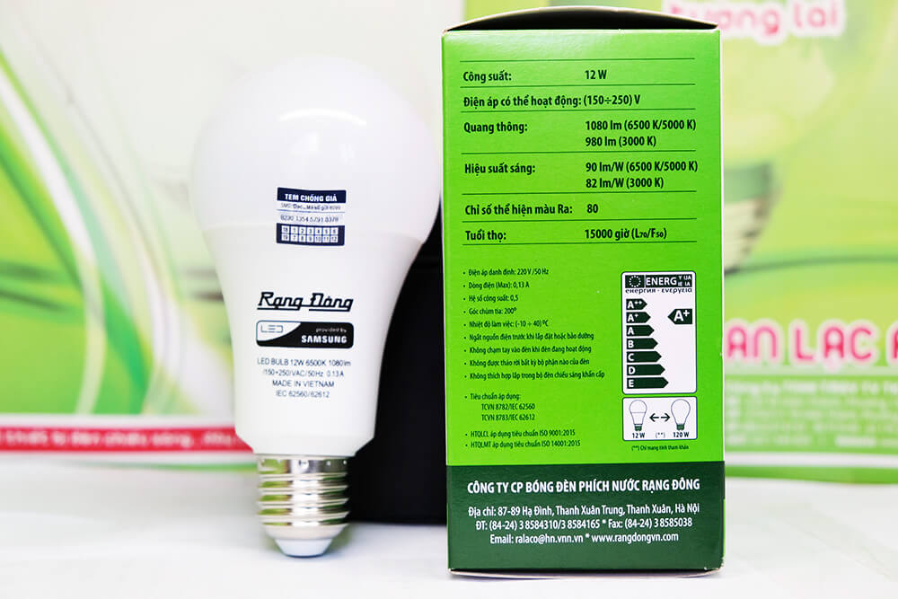 Bóng đèn led tròn A70N1 12w giá bóng đèn led Rạng Đông