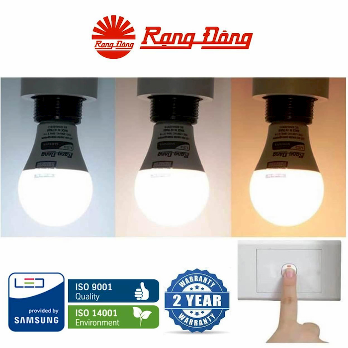 Người mua cần kiểm tra cẩn thận đảo bảo đèn led Rạng Đông chính hãng