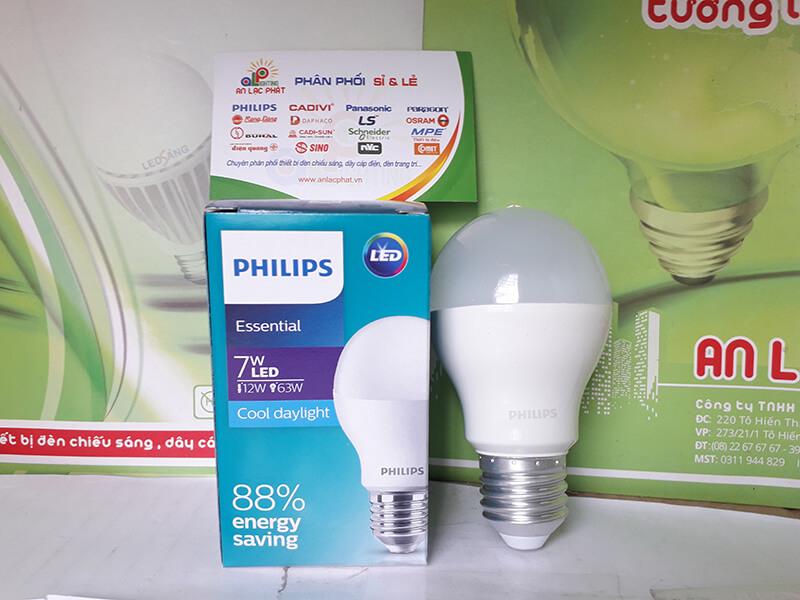 Đèn led bulb Essential G5 Philips thắp sáng ổn định dù điện thế yếu